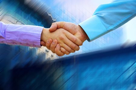 Shaking hands of two business people Stock Photo - 7928081