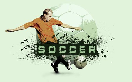 Grunge Soccer Ball background  photo