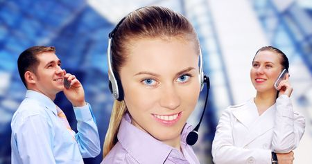 Happiness businessmens call by phone Stock Photo - 7996014