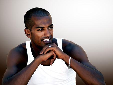 Portrait of a Black Man Smiling Stock Photo - 7996164