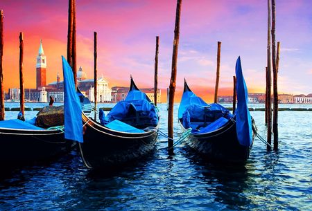 gondolas: Venezia - travel romantic pleace Stock Photo