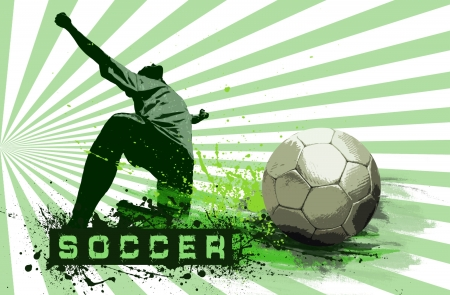 Grunge Soccer Ball background  Stock Photo - 8114719