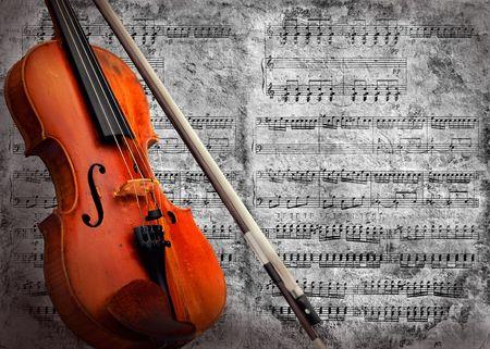 violines: Fondo de viol�n de grunge musical retro  Foto de archivo