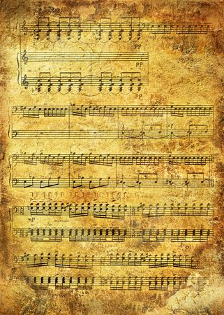 Retro musical  grunge background Stock Photo - 8114735