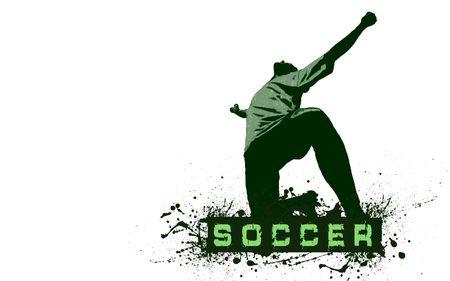 Grunge Soccer Ball background  Stock Photo - 8114741