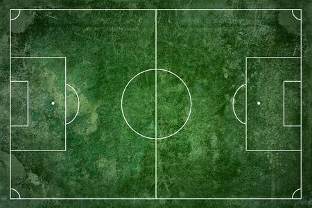 cancha deportiva futbol: Fondo de textura de campo de fútbol de grunge  Foto de archivo