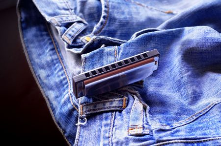 Harmonica on the jeans