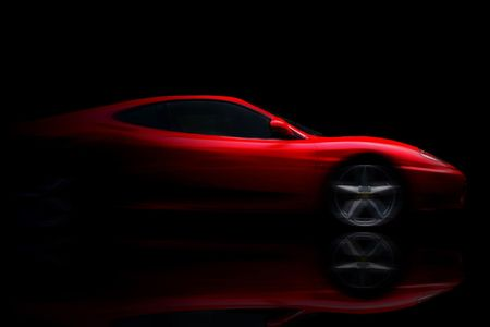 Beautiful red sport car  Stock Photo - 8338933