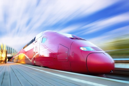 rapid: High-speed train with motion blur outdoor