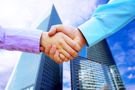 Shaking hands of two business people Stock Photo - 8254949