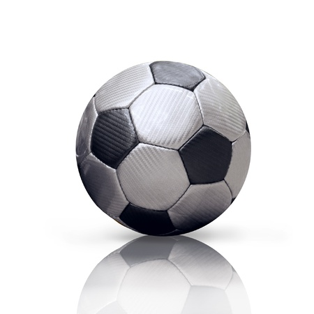 Soccer ball isolated on the white background photo