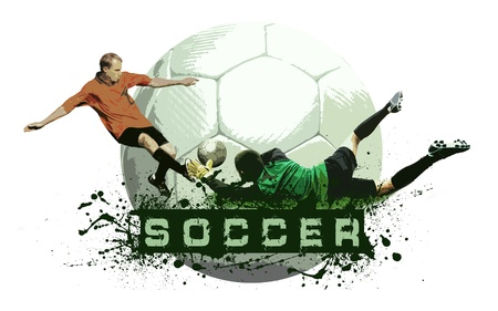 Grunge Soccer Ball background Stock Photo - 8555976