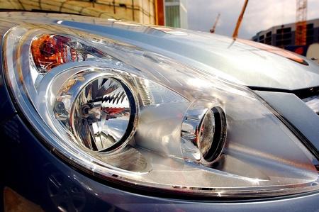 Headlight of car  photo