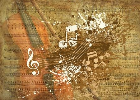musical instrument: Retro musical  grunge background