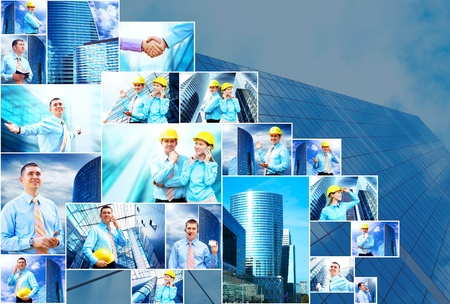 Business collage of many business images photo