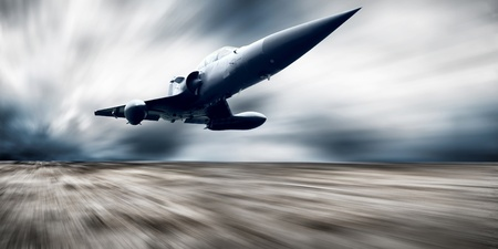 us air force: Military airplan on the speed