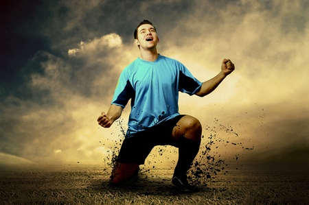 Shoot of football player on the outdoor field Stock Photo - 8655781