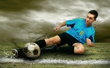 soccer players: Soccer players on the field