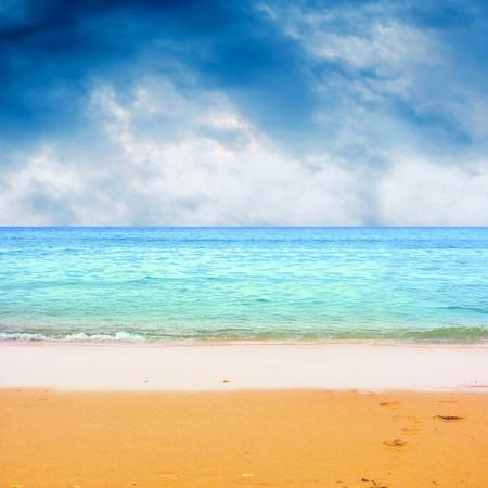 Young beautiful women on the sunny tropical beach in bikini Stock Photo - 9128597