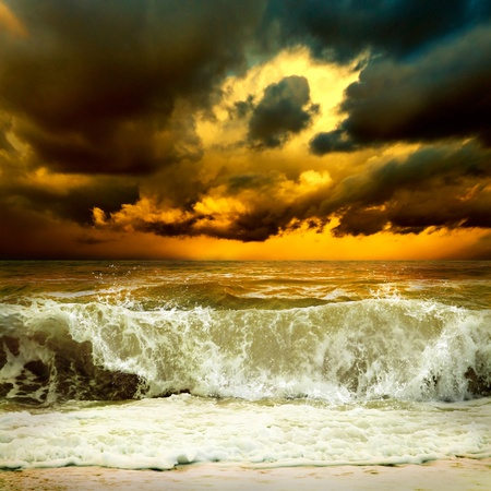 View of storm seascape Stock Photo - 9788947