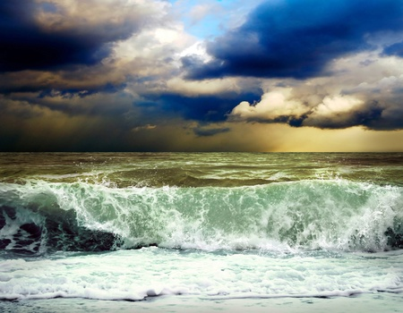 View of storm seascape Stock Photo - 9970844