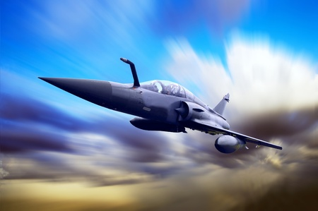 freedom fighter: Military airplan on the speed