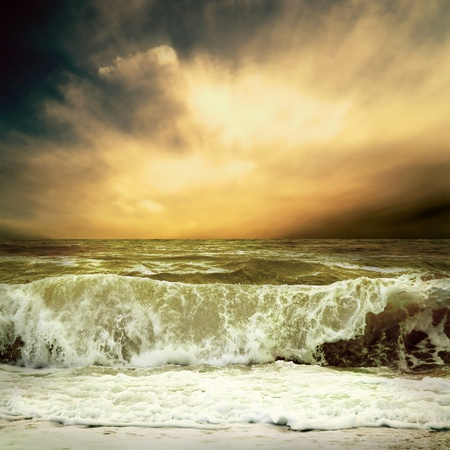 View of storm seascape Stock Photo - 10260096