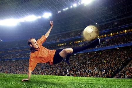 shoot: Football player on field of stadium