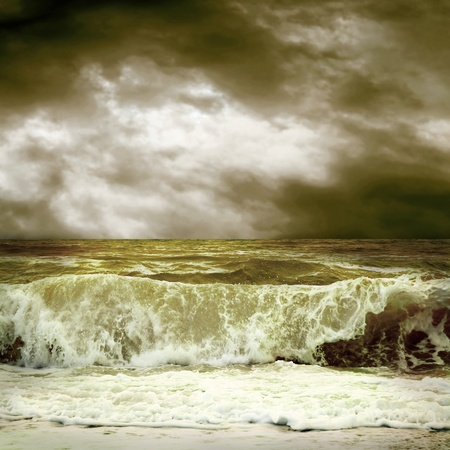 View of storm seascape Stock Photo - 10356180