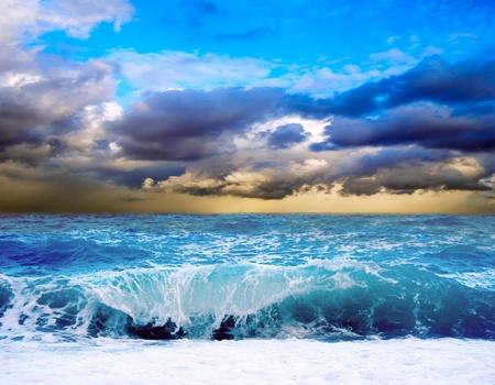 Bekijk de storm zeegezicht