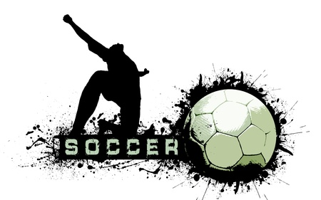 Grunge Soccer Ball background Stock Photo - 10799832