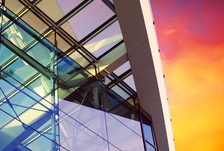 office environment: Business buildings architecture on sky background  Stock Photo