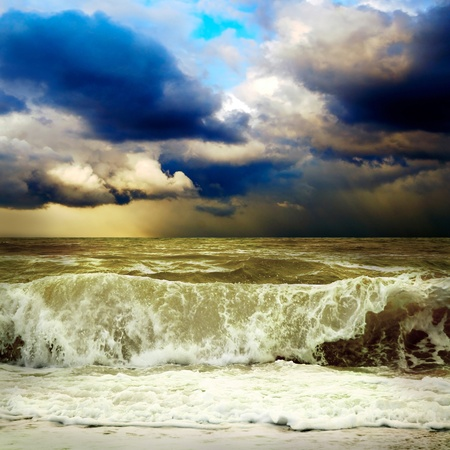 View of storm seascape Stock Photo - 11065690