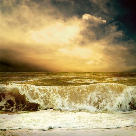 temp�te: Vue de la temp�te marine