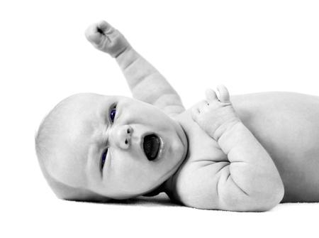 Newborn baby on the light background Stock Photo - 12341156