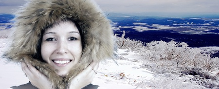 Portrait of happiness young woman in winter hat Stock Photo - 13251994