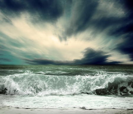 View of storm seascape Stock Photo - 13341230