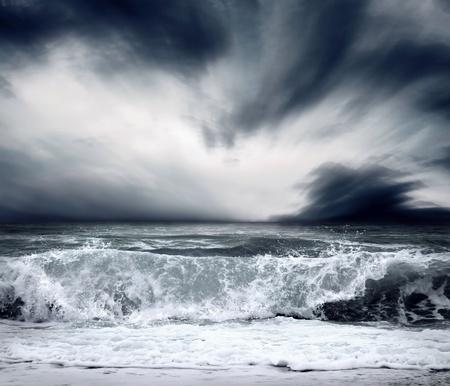 granola: Vista de la tormenta marina