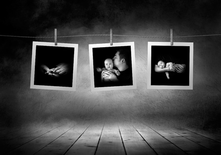 Images collection  line of newborn babys photographs Stock Photo - 13568701