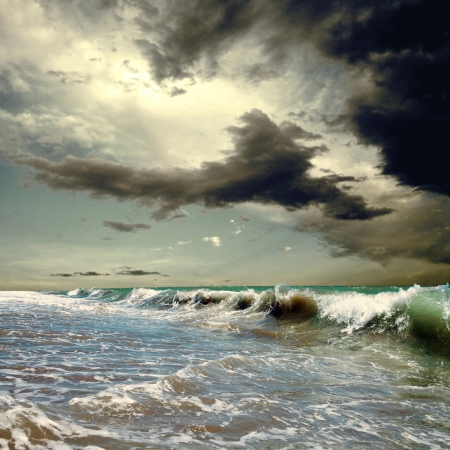 moody: Beautiful View of seascape Stock Photo