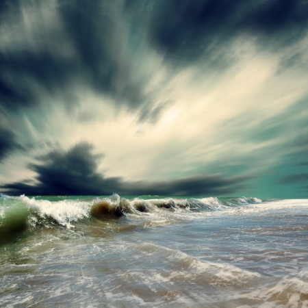 olas de mar: Hermosa vista de marino Foto de archivo