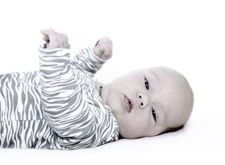 Newborn baby isolater on the white background Stock Photo - 14747066