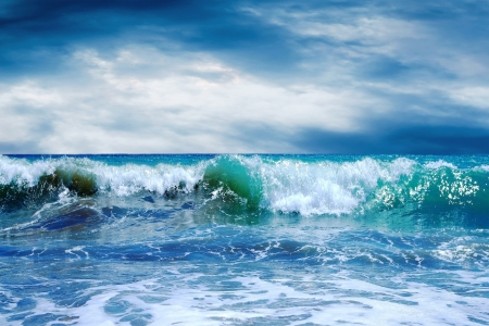 breaking wave: Beautiful View of seascape Stock Photo