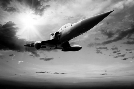supersonic transport: Military airplan on the speed