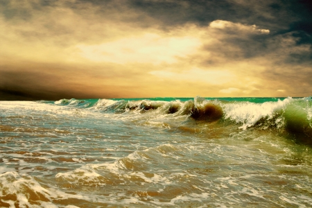 stormy: Beautiful View of seascape Stock Photo