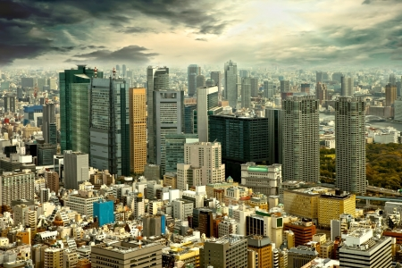 City view of skyscarpers Stock Photo - 15901038