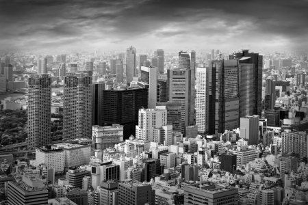 City view of skyscarpers Stock Photo - 16364240