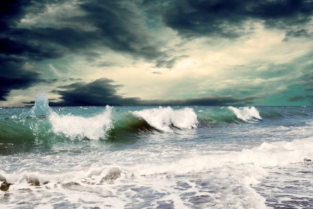 storm sea: Beautiful View of seascape Stock Photo