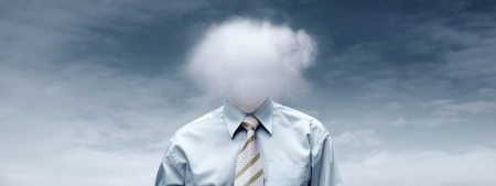 Hasppiness businessman under blue sky with clouds Stock Photo - 16714029