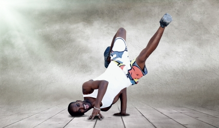 Young man dancer in new stay pose Stock Photo - 16848476